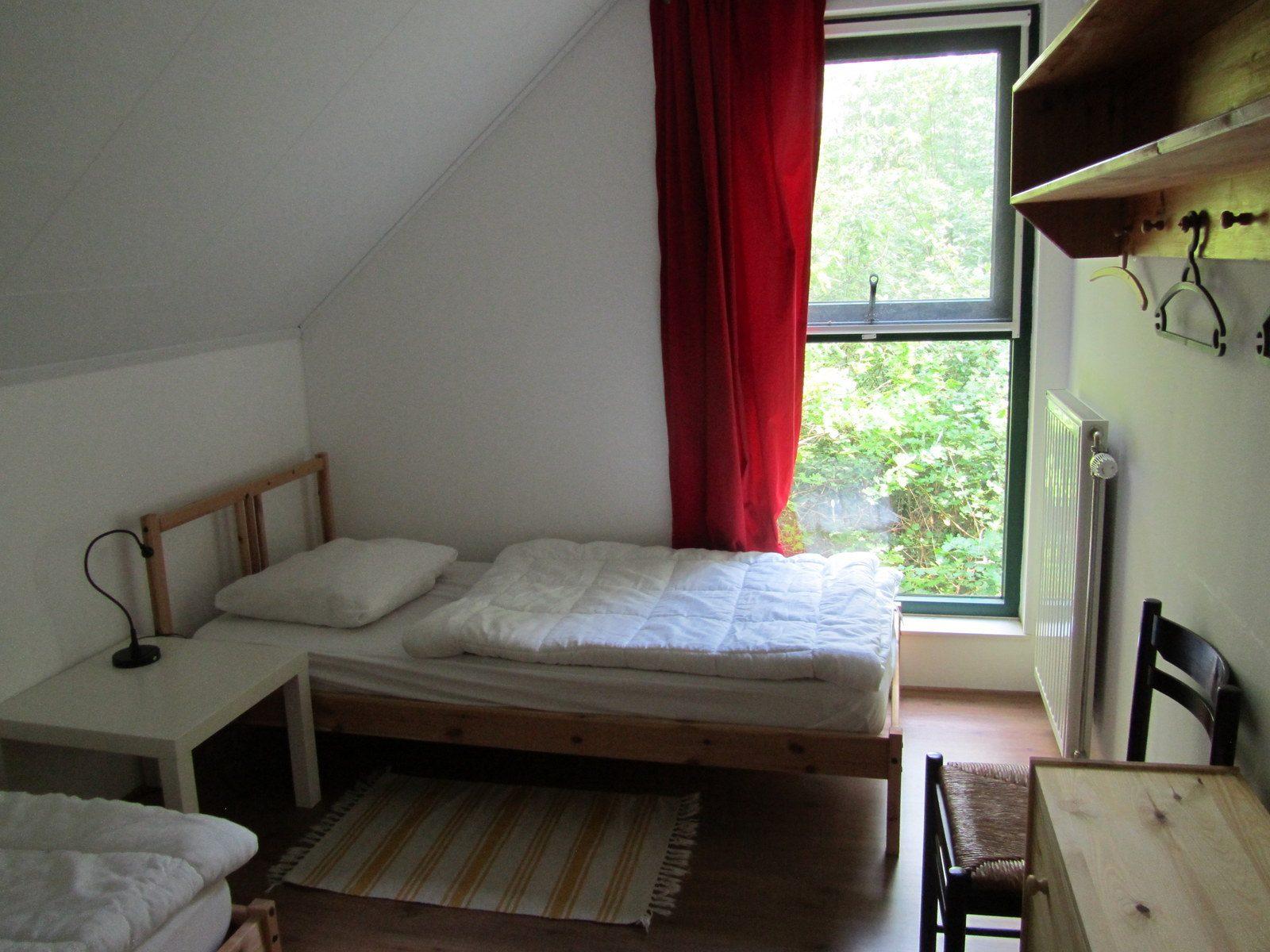 slaapkamer Malgre-Tout  huis aan Drentsche Aa te Schipborg