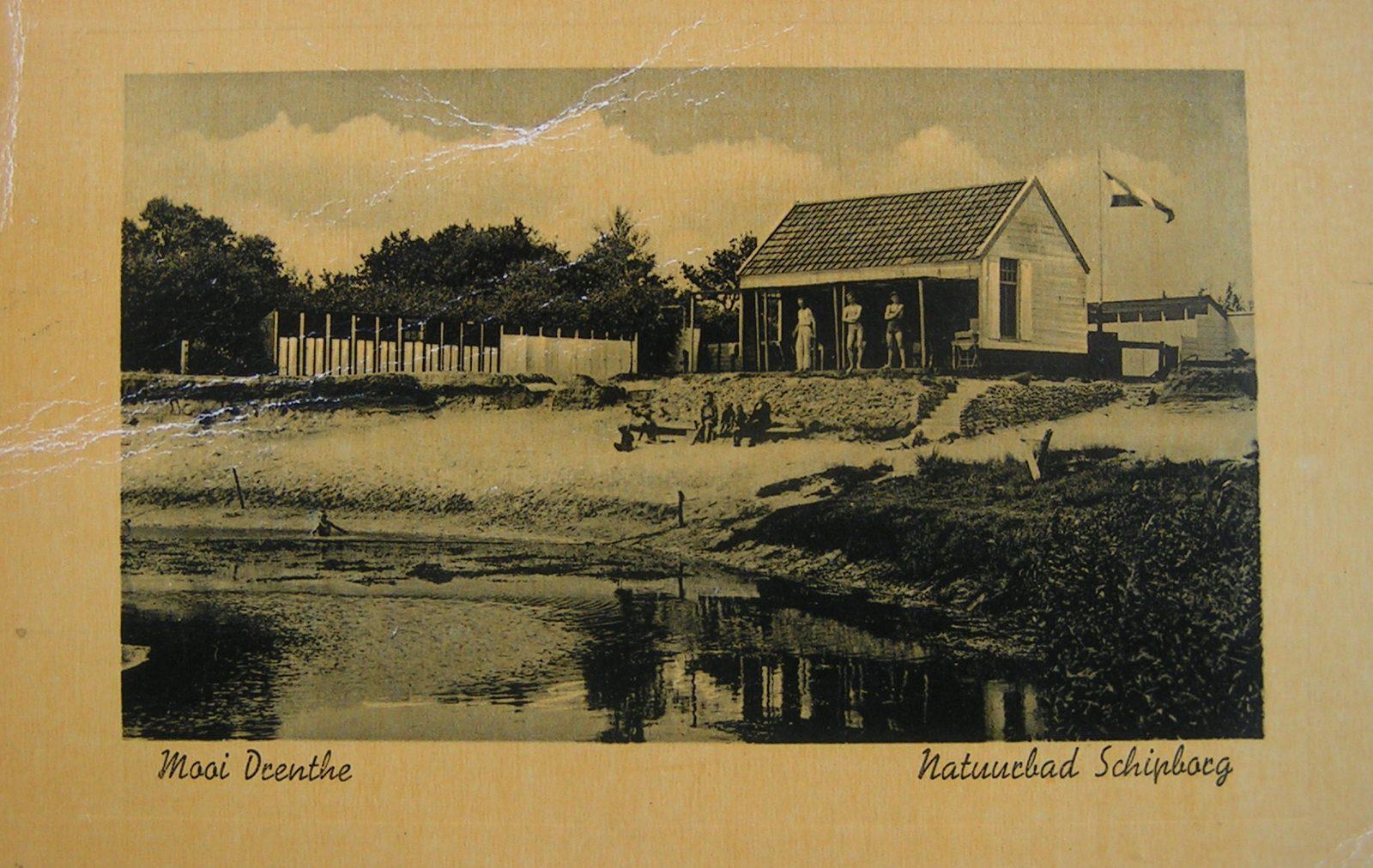 Begin jaren dertig zwembad met badhokjes Schipborg Músarrindill
